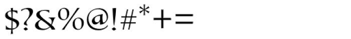 Tresillian Script Light Font OTHER CHARS