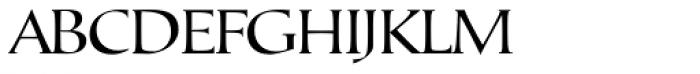 Tresillian Script Light Font UPPERCASE