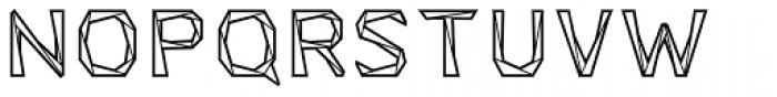 Tri-Font Outline Font UPPERCASE