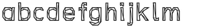 Tri-Font Outline Font LOWERCASE