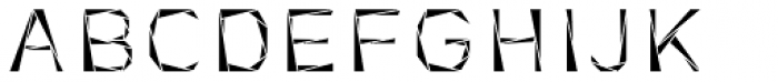 Tri-Font Triangle Font UPPERCASE