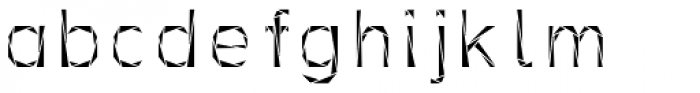 Tri-Font Triangle Font LOWERCASE