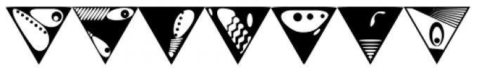 Triangles Font OTHER CHARS