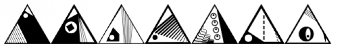 Triangles Font UPPERCASE
