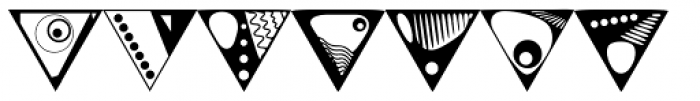 Triangles Font LOWERCASE