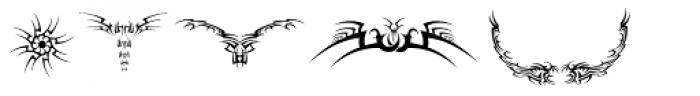Tribal Dingbats Font LOWERCASE