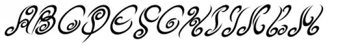 Tribal King Italic Font UPPERCASE
