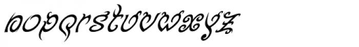 Tribal King Italic Font LOWERCASE