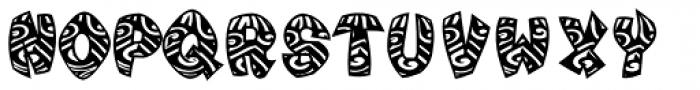 Tribal Maori Black Blow Font UPPERCASE