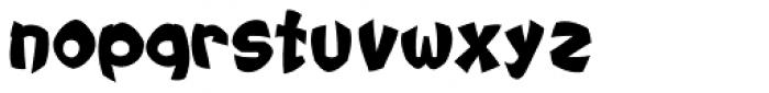 Tribal Maori Black Blow Font LOWERCASE