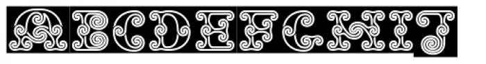Tribal Spiral BA Font UPPERCASE