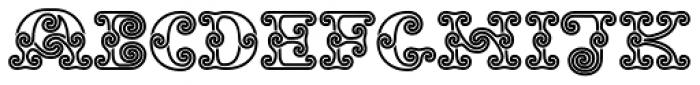 Tribal Spiral BA Font LOWERCASE