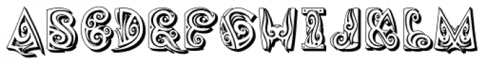 Tribaltypo Inverse Font UPPERCASE