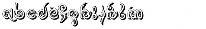 Tribaltypo Inverse Font LOWERCASE