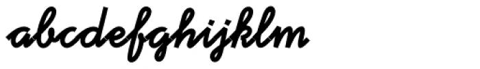 Tribeca Script Font LOWERCASE