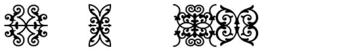 Tribute Roman Ligatures and Ornaments Font LOWERCASE