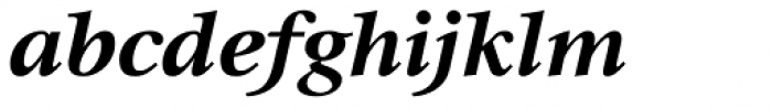 Triest DT Bold Italic Font LOWERCASE