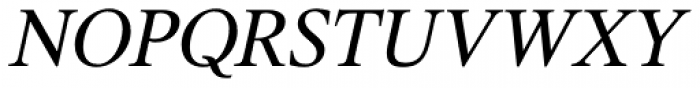 Triest DT Italic Font UPPERCASE