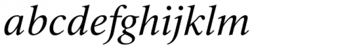 Triest DT Italic Font LOWERCASE