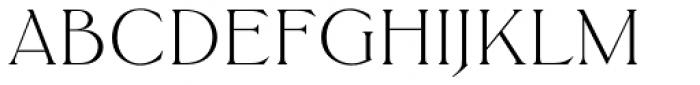 Trieste EF Light Font UPPERCASE