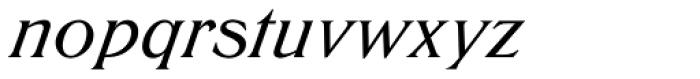 Trieste EF Medium Italic Font LOWERCASE