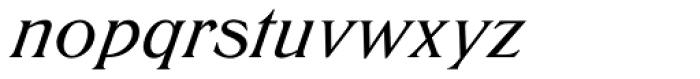 Trieste SB Medium Italic Font LOWERCASE