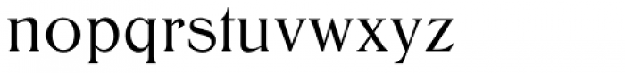 Trieste SB Medium Font LOWERCASE