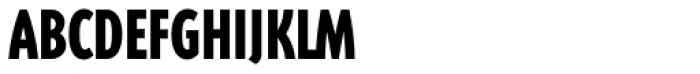 Triplex Condensed Sans Black Font UPPERCASE