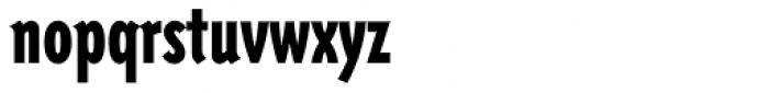 Triplex Condensed Sans Black Font LOWERCASE