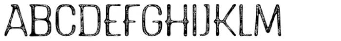 Triump Rough Blur 02 Font UPPERCASE
