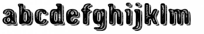 Triump Rough Blur 07 Font LOWERCASE
