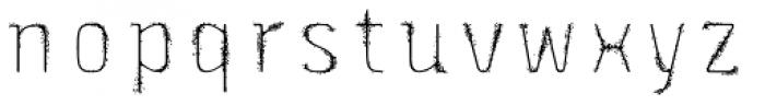 Triump Rough Blur 09 Font LOWERCASE
