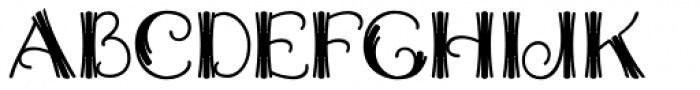 Trivette Font UPPERCASE