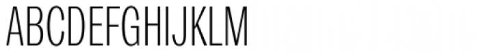 Trivia Gothic C1 Condensed Thin Font UPPERCASE