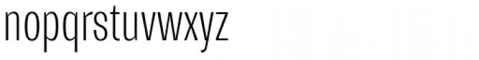 Trivia Gothic C1 Condensed Thin Font LOWERCASE