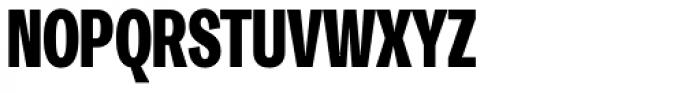 Trivia Gothic C6 Condensed Black Font UPPERCASE