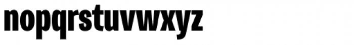 Trivia Gothic C6 Condensed Black Font LOWERCASE