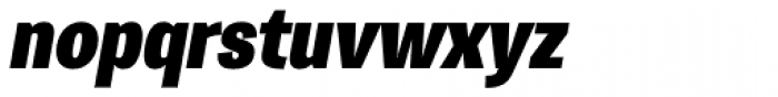 Trivia Gothic S6 SemiCondensed Black Italic Font LOWERCASE