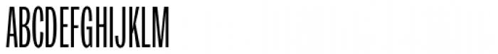 Trivia Gothic U2 UltraCondensed Light Font UPPERCASE