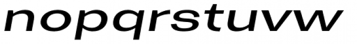 Trivia Gothic X3 Expanded Italic Font LOWERCASE