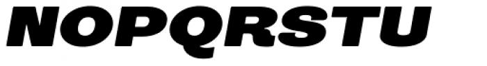 Trivia Grotesk X6 Italic Font UPPERCASE