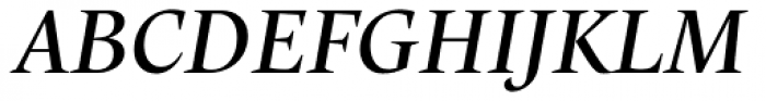 Trivia Humanist Text Italic Font UPPERCASE