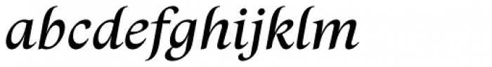 Trivia Humanist Text Italic Font LOWERCASE