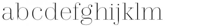 Trivia Serif Hairline Font LOWERCASE