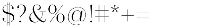 Trivia Serif Light Font OTHER CHARS