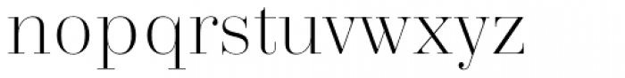 Trivia Serif Light Font LOWERCASE