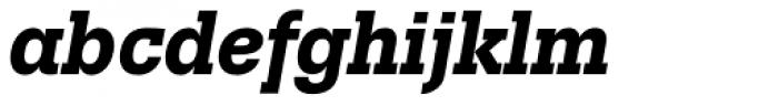 Trivia Slab Bold Italic Font LOWERCASE
