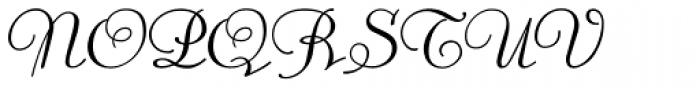 Trocadero Pro Cursive Font UPPERCASE