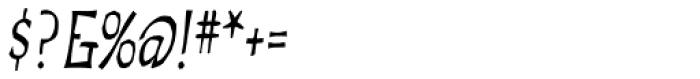 Troiminut Italic Font OTHER CHARS