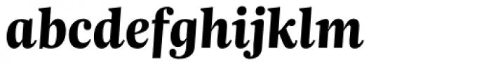 Trola Heavy Italic Font LOWERCASE